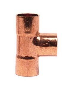 """Pieza T unión Cobre  3/8""""  hembra-hembra  Ø interior 10mm L33mm"""