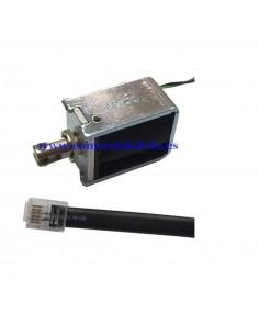 Electroimán 24 voltios para cajón registrador eléctrico conector RJ11