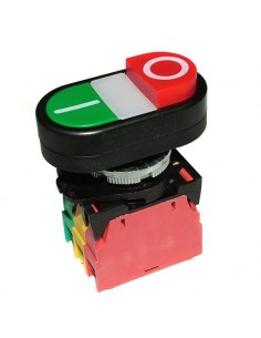 Interruptor Rojo/Verde Marcha/Paro con luz 401357