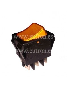 Pulsador basculante 30x22mm naranja 2CO 250V 16A