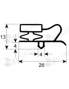 Junta para frigorífico perfil 9013 An 380mm L 585mm FAGOR CORECO