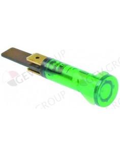 lámpara de señalización ø 10mm verde 230V empalme conector Fasto
