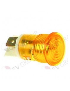lámpara de señalización ø 16mm 230V amarillo empalme conector Fa
