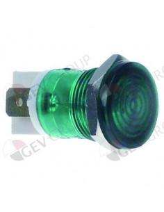 lámpara de señalización ø 16mm 230V verde empalme conector Fasto...