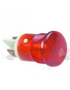 lámpara de señalización ø 16mm 230V rojo empalme conector Faston