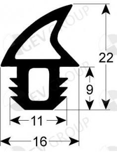 junta de puerta perfil 2757 UE vanta por metros para FIMOR