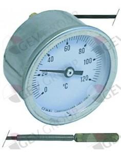 termómetro montaje ø 52mm T máx 120°C margen de medición de 0 a