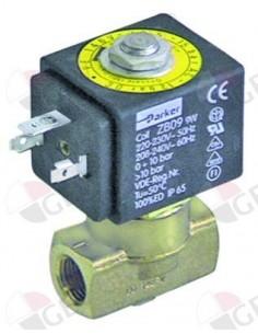 """válvula magnética 2vías 230 VAC empalme 1/4"""" DN 3mm"""