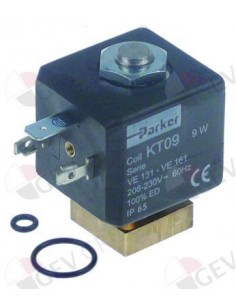 válvula magnética 2vías 230 VAC PARKER Tipo KT09