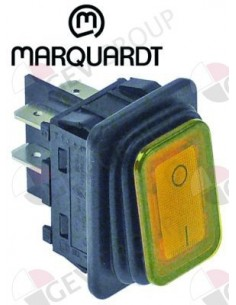 interruptor basculante 30x22mm naranja 2NO 250V 20A
