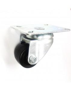 Rueda pivotante metálica ø 50mm H63mm sujeción placa 104x82mm 1x con anclaje