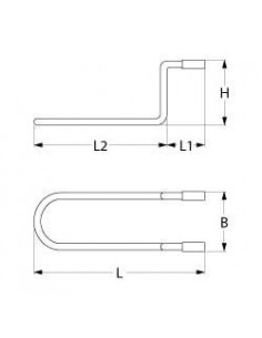 resistencia 650W 230V L 280mm An 95mm H 87mm L1 65mm L2 215mm longitud del cable 1500mm Cookmax, Mafirol