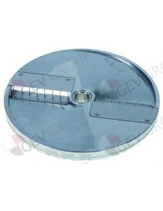 Disco Costadora Vegetales HU10 HLC-300 DQ10 ø 205mm soporte ø 19mm espesor de corte 10mm aluminio