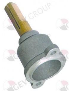 parte delantera de grifo de gas eje ø 8x10mm eje L 25/17mm parte plana derecho/izquierdo PEL22