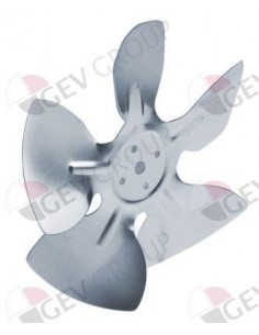 rodete ventilador aspirante ø 154mm sentido de rotación izquierdo fijación asta 25,4mm
