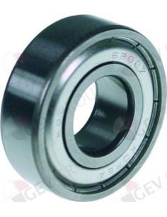 Rodamiento de bolas radial tipo DIN 6205-2Z árbol ø 25mm ø ext. 52mm An 15mm
