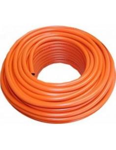 Tubo PVC plastificado y caucho nitrílico de doble capa. Diámetro 9 x 15 mm.