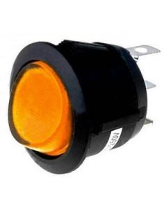 interruptor basculante medida de montaje 20mm ambar  1NO 250V 16A 0-I empalme conector Faston 4,8mm