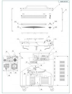 Junta Campana Envasadora vacío Edesa VAC-100S K005B50041 3 metros