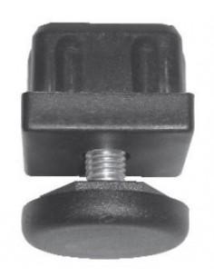 Pata regulable para tubo 40x40mm en poliamida negra Elevación máxima: 35mm