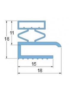 Burlete PVC Blando PT.1250 Gris 3 Metros