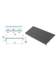 Perfil rígido PVC negro Metro (tira 2 metros)