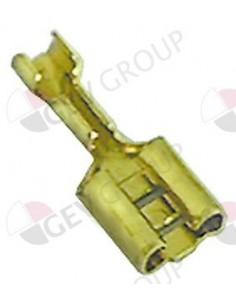 conector Faston hembra tamaño 6,3x0,8mm 0,5-1,0mm² CuZn T máx