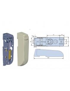 Bisagra para arcones frigoríficos con Embellecedores  muelle 4mm largo 162mm
