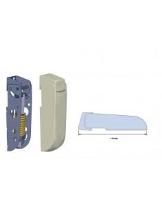 Bisagra para arcones frigoríficos con Embellecedores  muelle 4mm largo 140mm