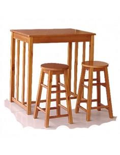 Pack mesa alta y 2 taburetes