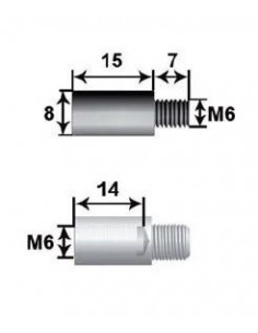 Prolongador 15mm Para Varilla  8 L15 M6