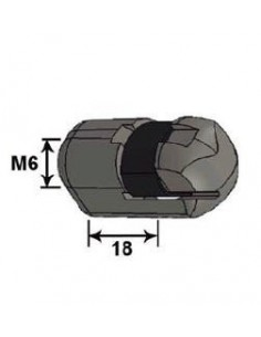Rótula Plástico Cabeza 10 L18G M6