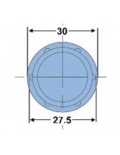 Contera Fija  Plástico negro tubo redondo 30mm