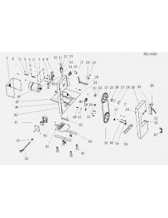 Placa Bloque microinterruptor Sierra HLS-1650 Despiece 36