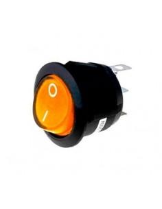 interruptor basculante medida montaje 20mm Ambar Serigrafiado 1NO 250V 16A 0-I empalme conector Faston 4,8mm OZTI 6232.00011.00