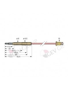 termopar conexión para conector ø6,0(6,5)mm M9x1 L 1500mm