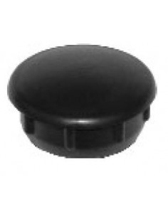 Contera redonda plástico negro D. 25mm