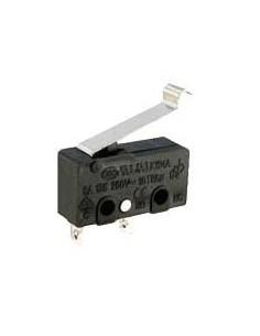 Microrruptor con varilla KW4A 125-250V 5A 20mm