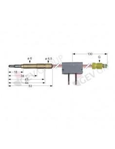 termopar con interruptor clavija ø6,0mm M9x1 L 600mm Ascobloc Re