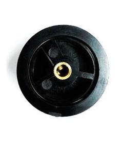 Mando Plástico  Eje ø 6mm Diámetro 45mm Salamandra ES-538 sujeción dos tornillos al eje