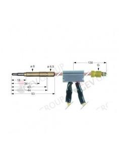 termopar con interruptor clavija ø6,0mm M9x1 L 1000mm cable 1000