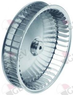 rodete ventilador D1 ø 197mm H1 43mm palas 45 D2 ø 8mm D3 ø 8x6,8mm H2 14mm H3 1,5mm Piron Eutron