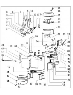 Placa Asiento motor Peladora HLP-20 Despiece 36