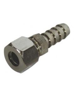 Tetina Ermeto Ø11 Niquelada tubo 8mm tuerca y anillo