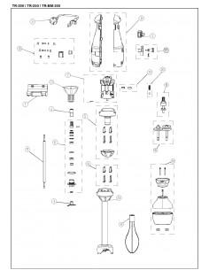 Conjunto carcasa Electroportátil TR-200/250 TR/BM-250 4039084 parte 9a