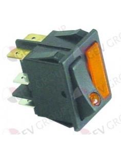 interruptor basculante medida de montaje 30x22mm naranja/naranja 1NO/lámpara 250V 16A iluminado CF-Cenedese Clajosa