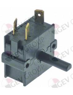 conmutador giratorio 4 0-1-2-3 juegos de contactos 2 tipo A040080 250V 16A