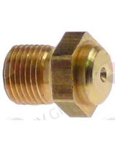 Boquilla Inyector M8x0,75mm Agujero 0,70mm Turhan Ozti Entrecaras 10mm