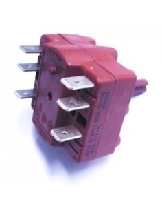 conmutador giratorio 4 0-1-2 juegos de contactos 2 tipo 4RH 400V 16A eje ø 6,3x4,7mm eje L 15mm Gottak 440214 Braher 90022