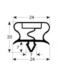 junta para frigorífico perfil 9013 An 455mm L 770mm medida inserción Coreco, Fagor